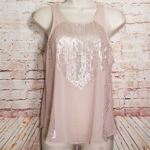 American Eagle | Sheer Sleeveless Sequin Top EC